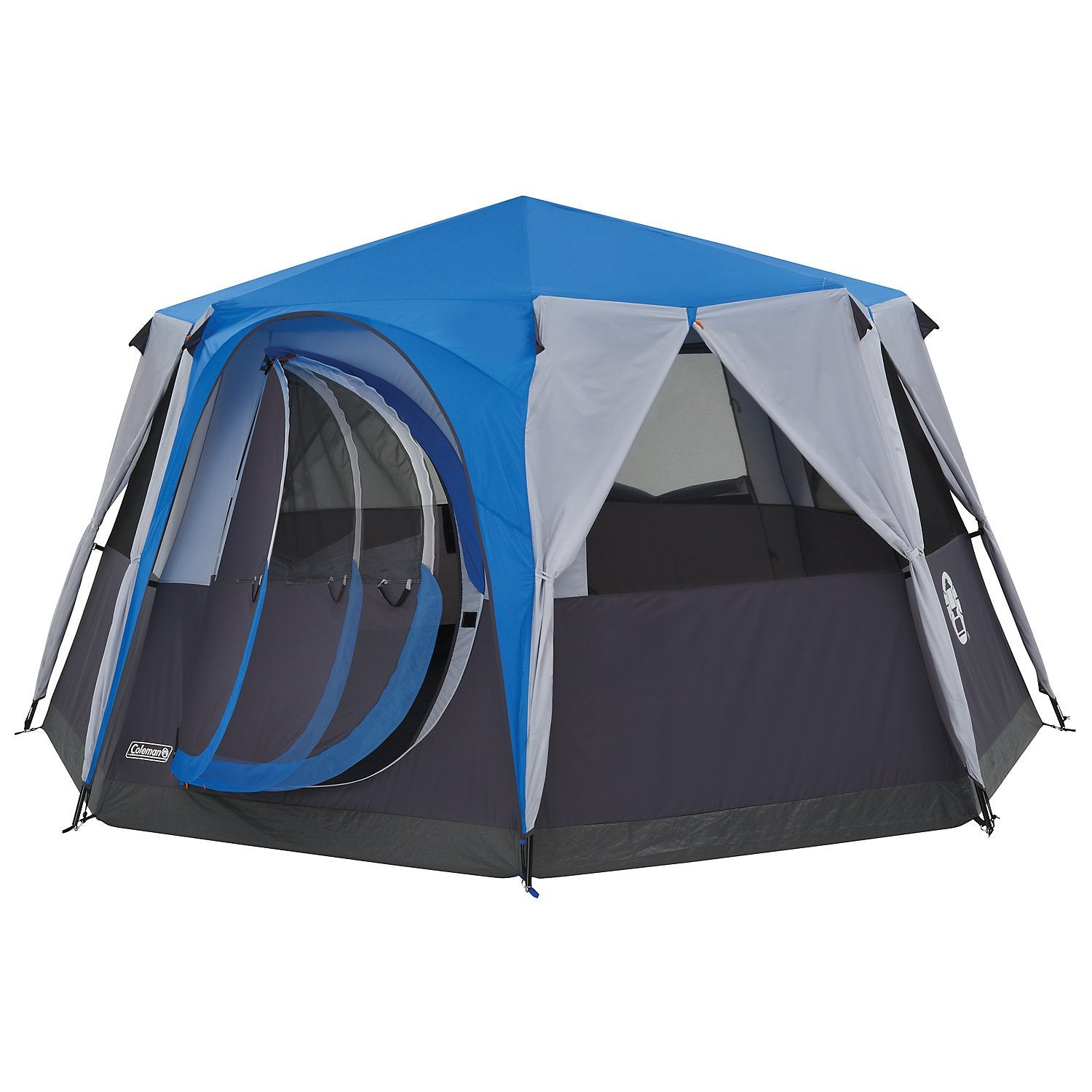 Coleman Cortes Octagon 8 Person Family Tent with Wheeled Carry Bag, 2000 mm Water Column, Waterproof, Easy Set up
