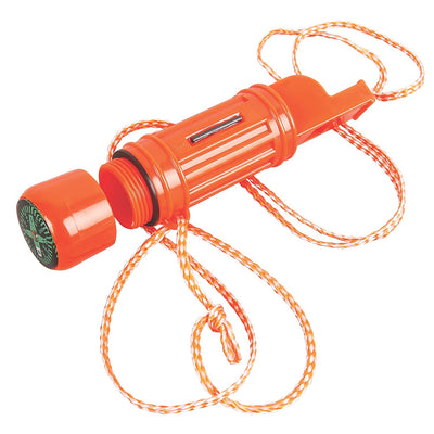 Coleman 5-in-1 Survival Whistle (Orange)