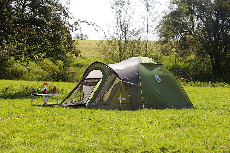 Coleman Darwin 3 Plus Dome Tent, 3 Man Camping Tent with Fiberglass Poles, 3000 mm Water Column, Waterproof
