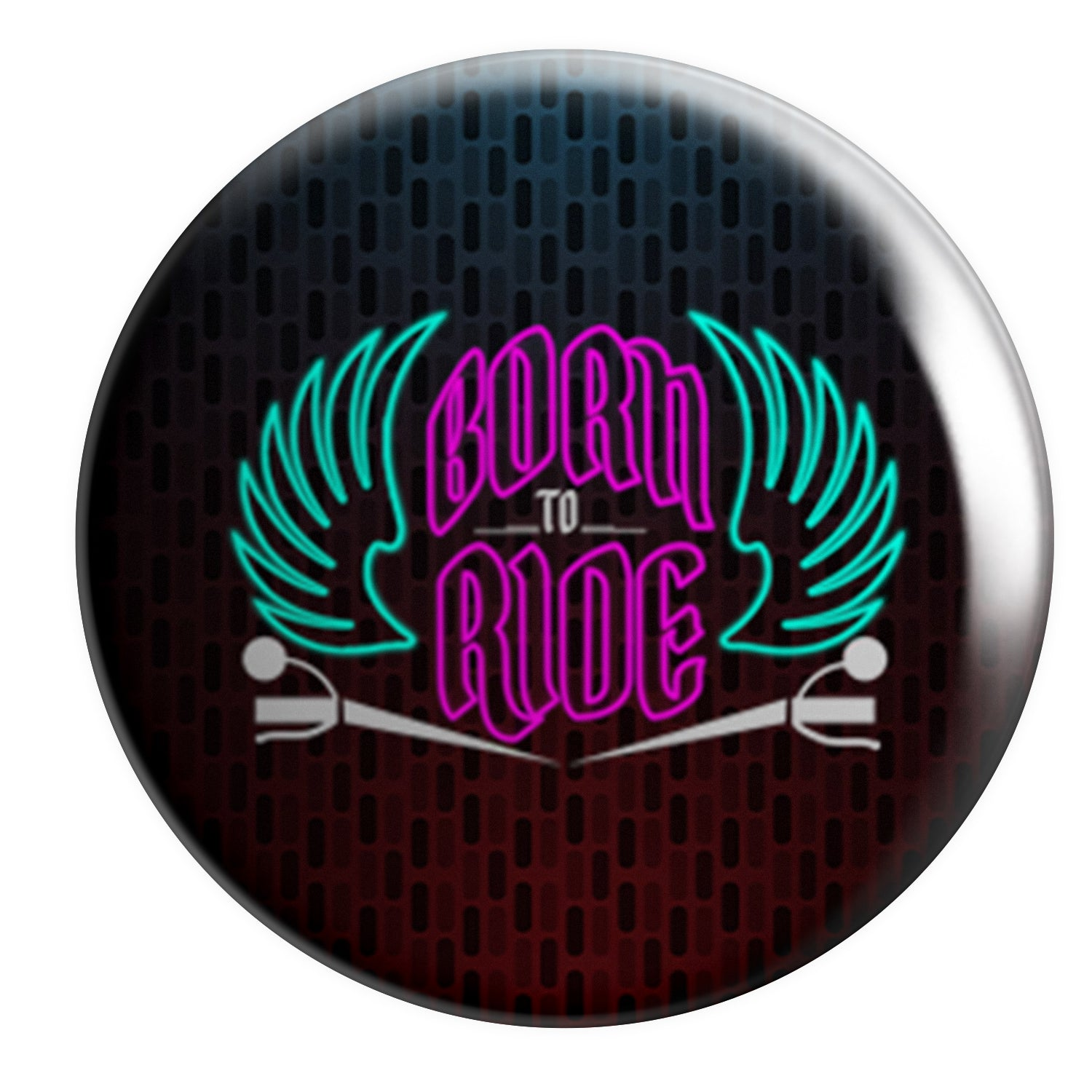Born To Ride Button Badge 2pcs