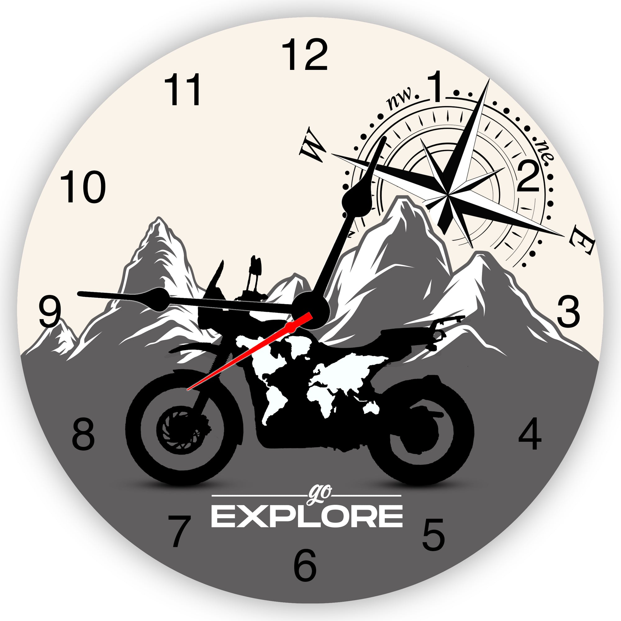 Go Explore Wall Clock