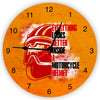Everything looks better inside a motorcycle helmet Wall Clock