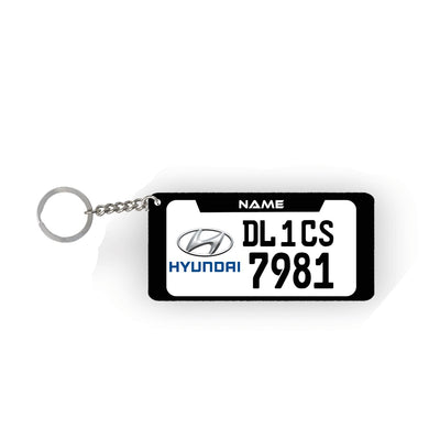 Custom Number Plate Keychain 2pcs