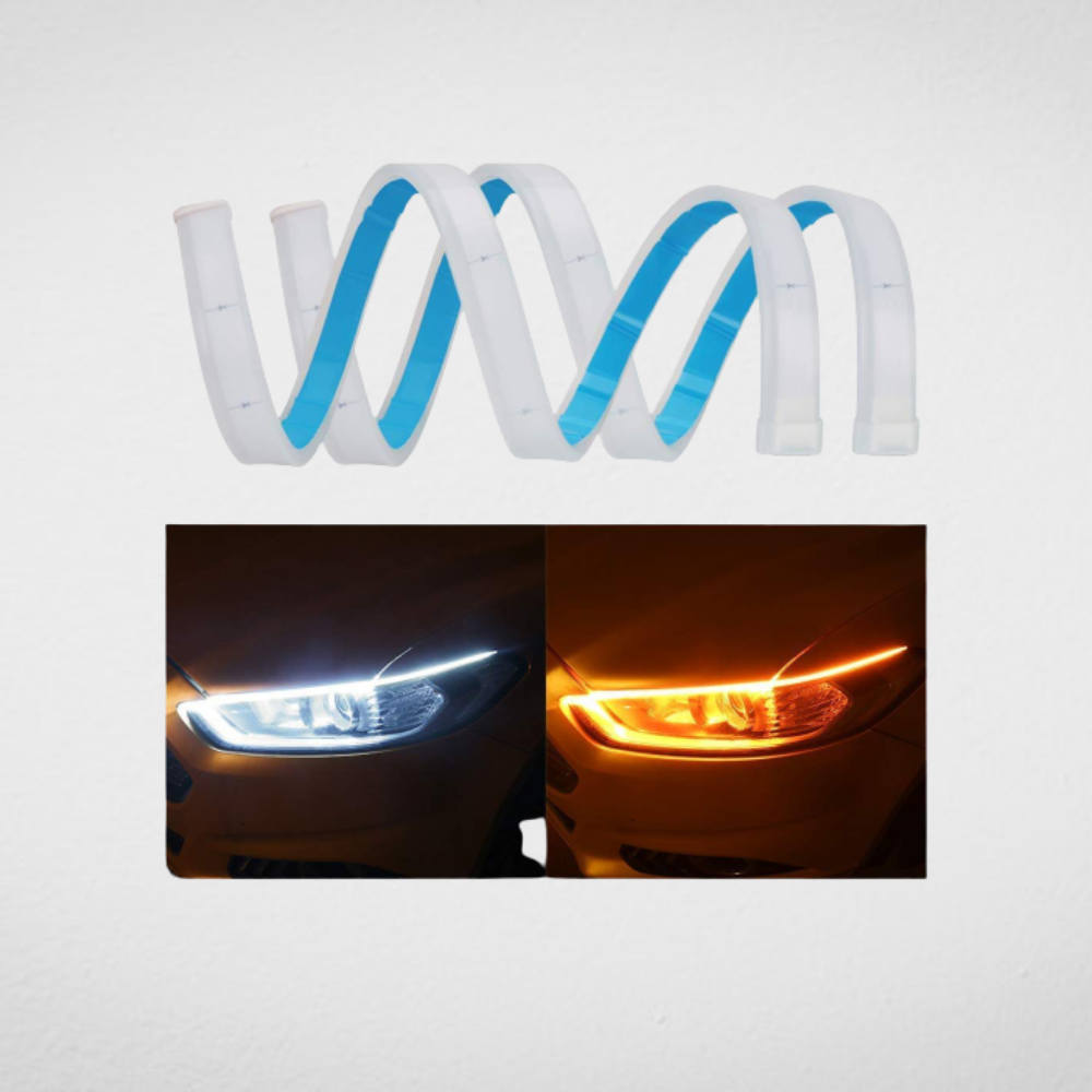 Sequential Flow Universal Ultra-fine DRL White and Yellow Color