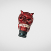 UNIVERSAL CAR GEAR SHIFT KNOB RED SKULL WITH HORN
