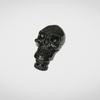 Universal Car Gear Shift Knob Black Skull