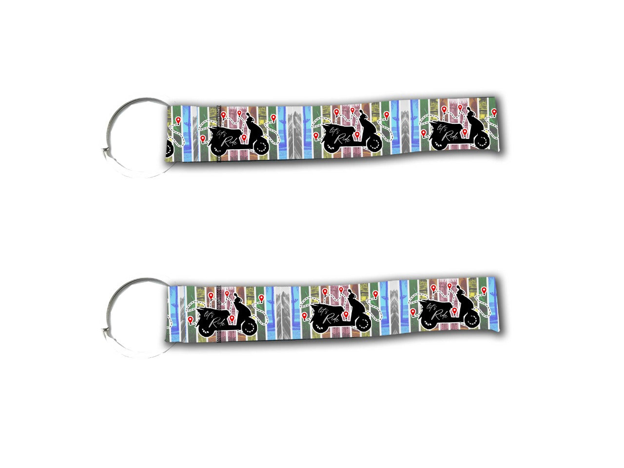 Lets Ride Keychain 2Pcs