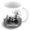 Go Explore White Coffee Mug