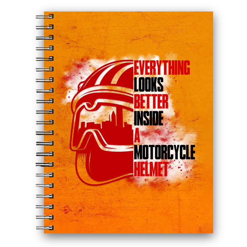 Everything looks better inside a motorcycle helmet Wiro Diary