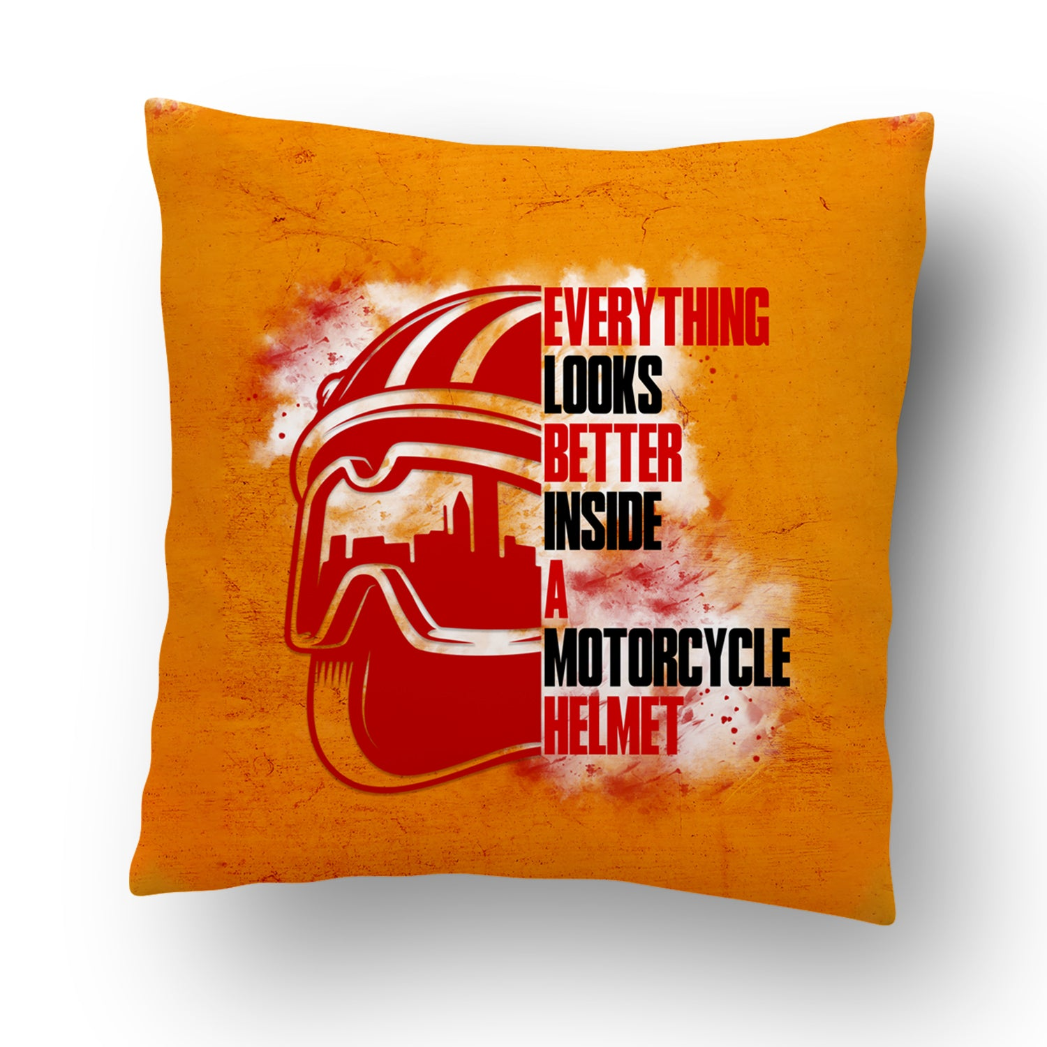Everything looks better inside a motorcycle helmet Cushion