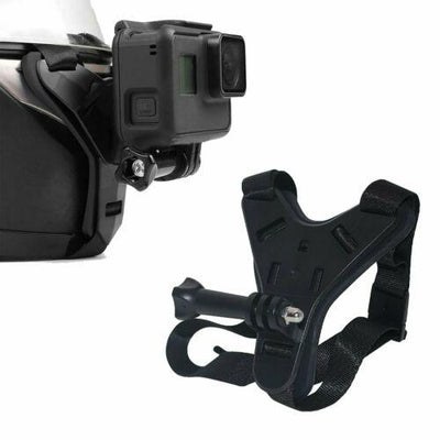 Chin Mount Helmet Strap for Action Camera (Black)