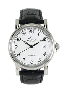 Plaridel (Silver Case, White Face and Black Leather Strap)