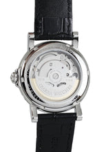 Load image into Gallery viewer, Plaridel (Silver Case, White Face and Black Leather Strap)