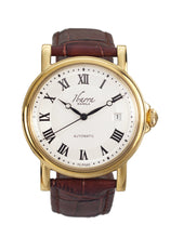 Load image into Gallery viewer, Mariano (Gold Case, White Face and Brown Leather Strap)