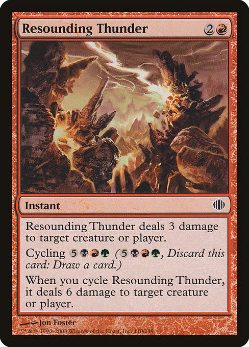 Resounding Thunder [Shards of Alara]