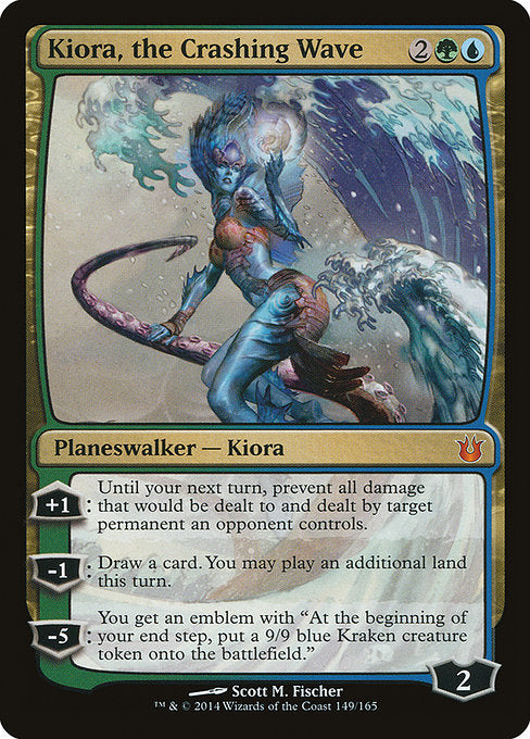 Kiora, the Crashing Wave [Born of the Gods]