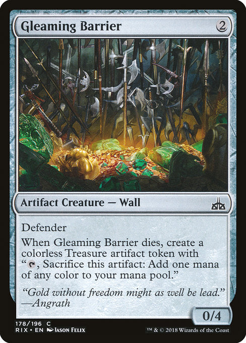 Gleaming Barrier [Rivals of Ixalan]