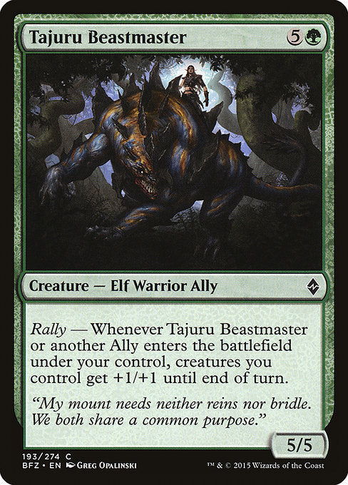 Tajuru Beastmaster [Battle for Zendikar]