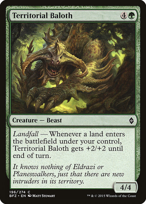 Territorial Baloth [Battle for Zendikar]