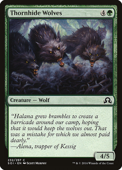 Thornhide Wolves [Shadows over Innistrad]