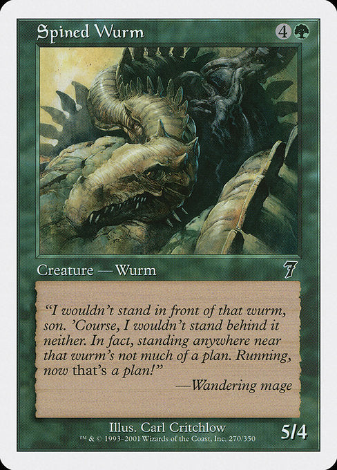Spined Wurm [Seventh Edition]