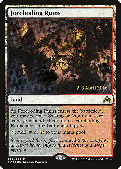 Foreboding Ruins [Shadows over Innistrad Promos]