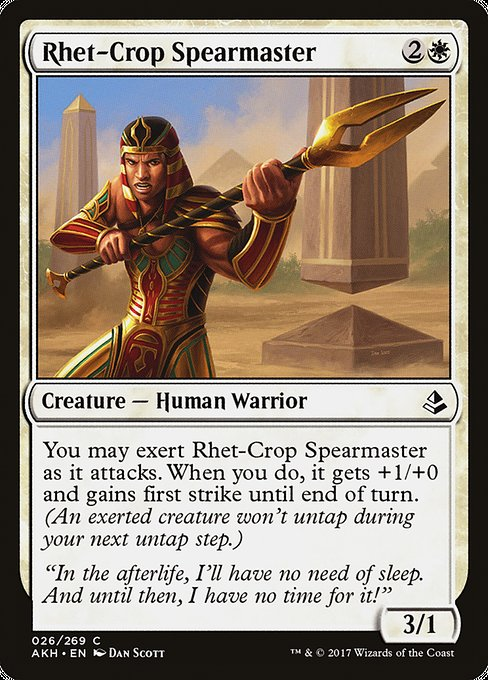 Rhet-Crop Spearmaster [Amonkhet]