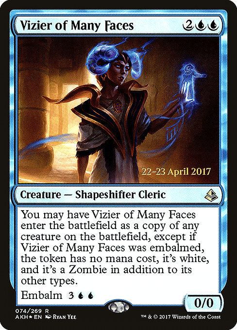 Vizier of Many Faces [Amonkhet Promos]