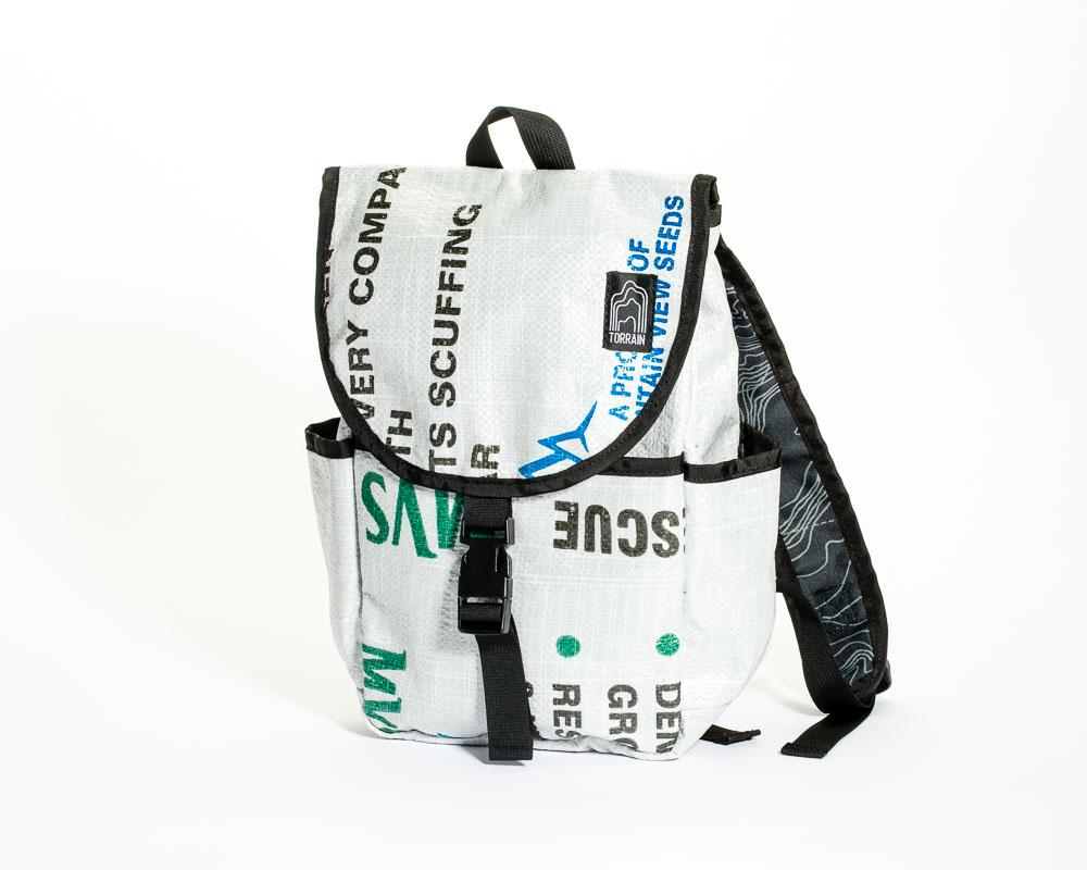 Repurposed US Made Small Day Pack Backpack- Eco-Friendly & Sustainable - Give Back Goods