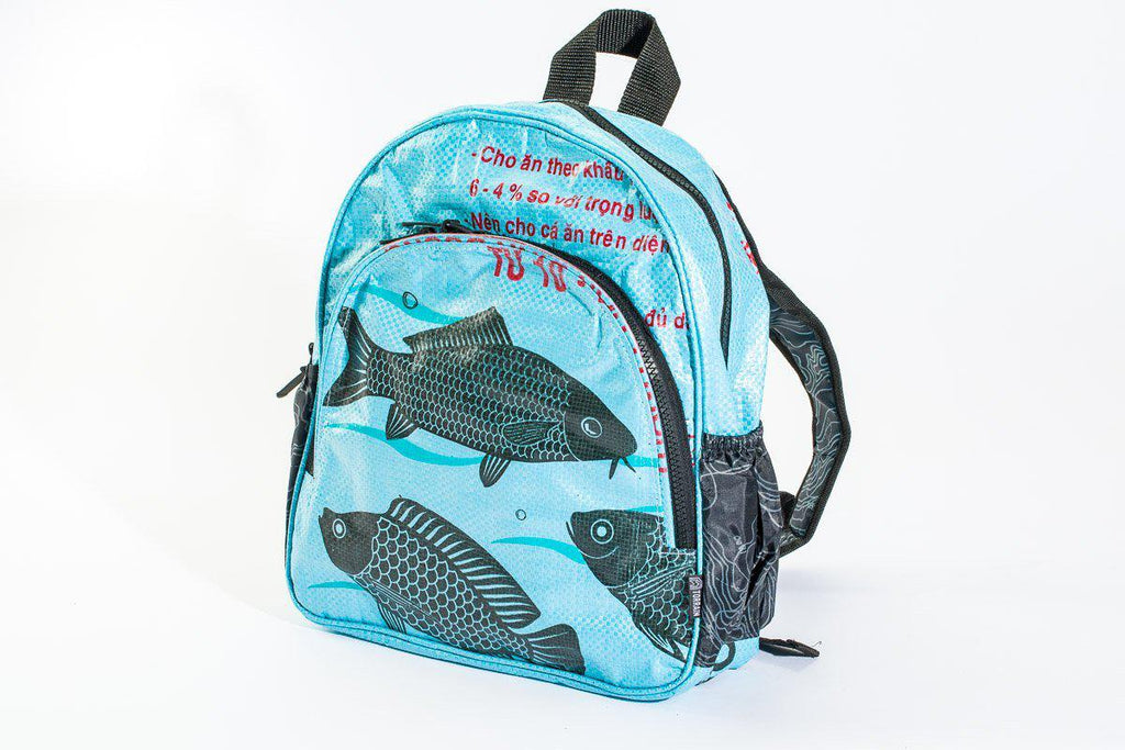 Repurposed Mini Backpack-(Bull, Fish, Camel) Fosters Local & Global Sustainable Communities