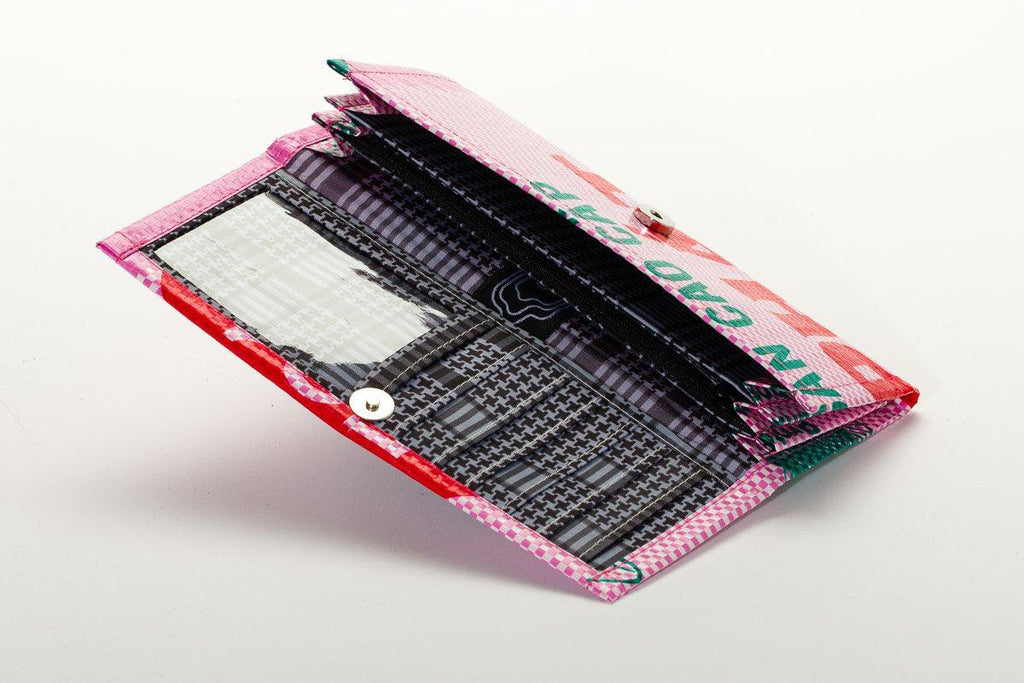 Upcycled Bi-Fold Wallet- Fosters global communities & saves landfill space!