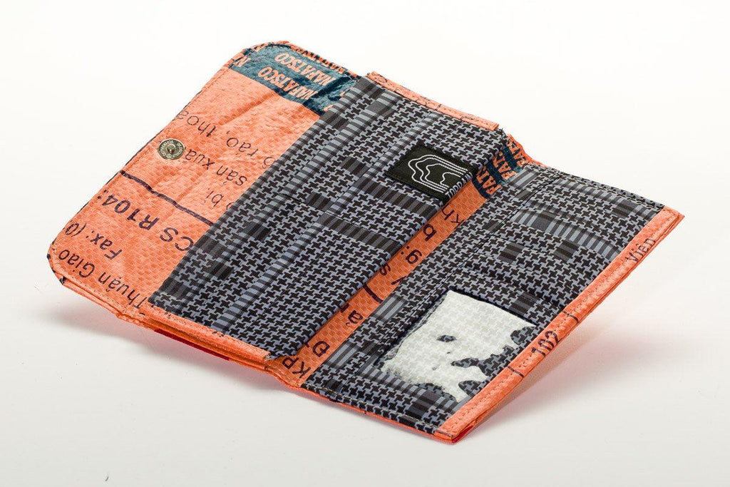 Repurposed Tri-Fold Wallet- Fosters Global Communities & Saves Landfills