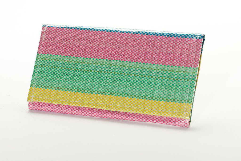 Upcycled Clutch Wallet/ Hand Bag- Fosters Global Communities