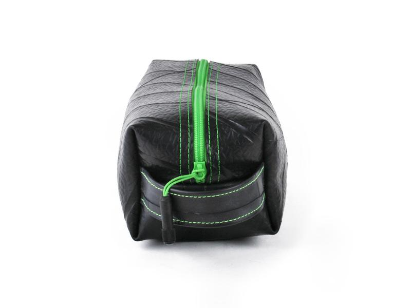 Large upcycled Tire Dopp Travel Kit - Made in the USA - Saves Landfill Space!