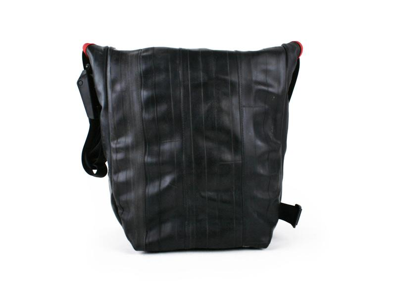 Upcycled Shoulder Bag- Made in the USA from Bicycle inner tubes- Saves Landfill Space!