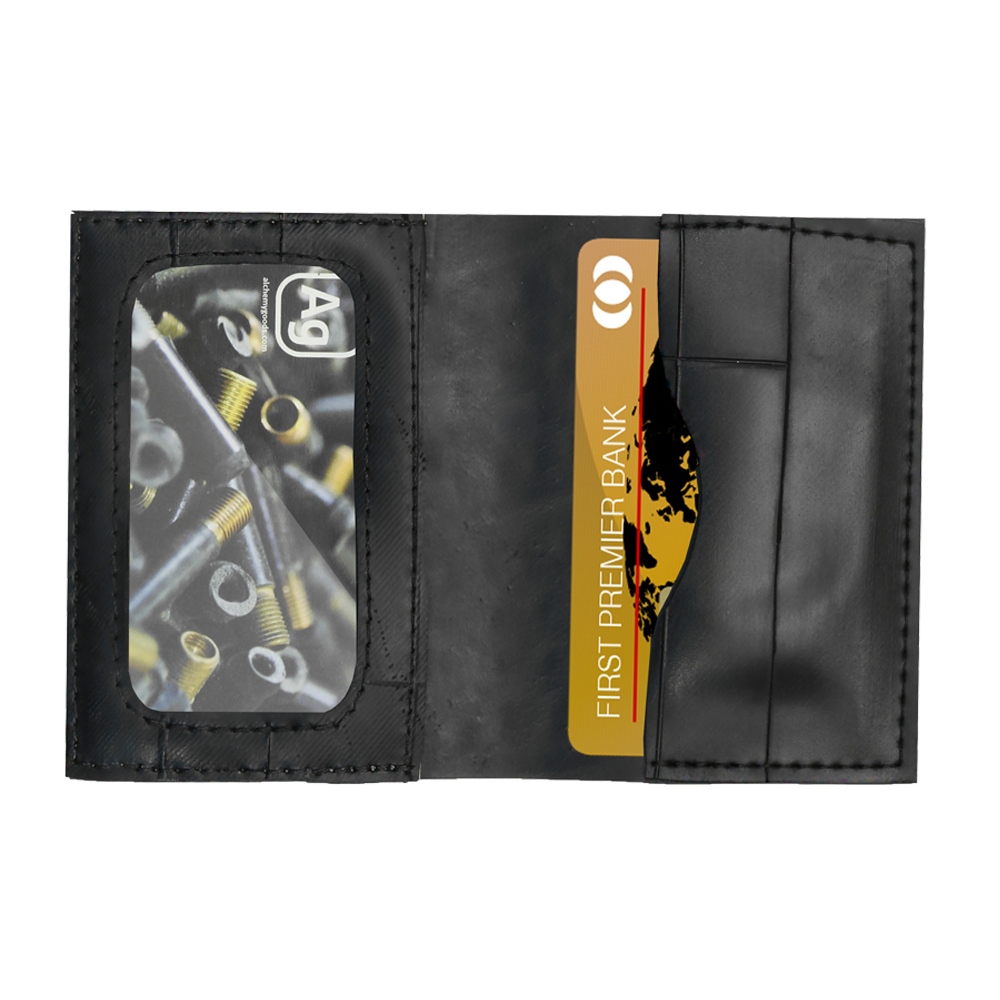 Upcycled Inner Tube Wallet - Eco-Friendly - Made in the USA - Saves Landfill Space!