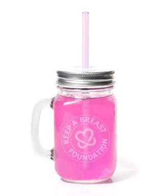 "Non-Profit Partners Glass Mug / 8"" Glass Straw Combo- Supports Charities! - Give Back Goods"