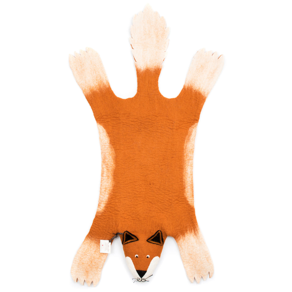 Fox Kids Rug- Supports Fair trade Artisans in Nepal - Give Back Goods