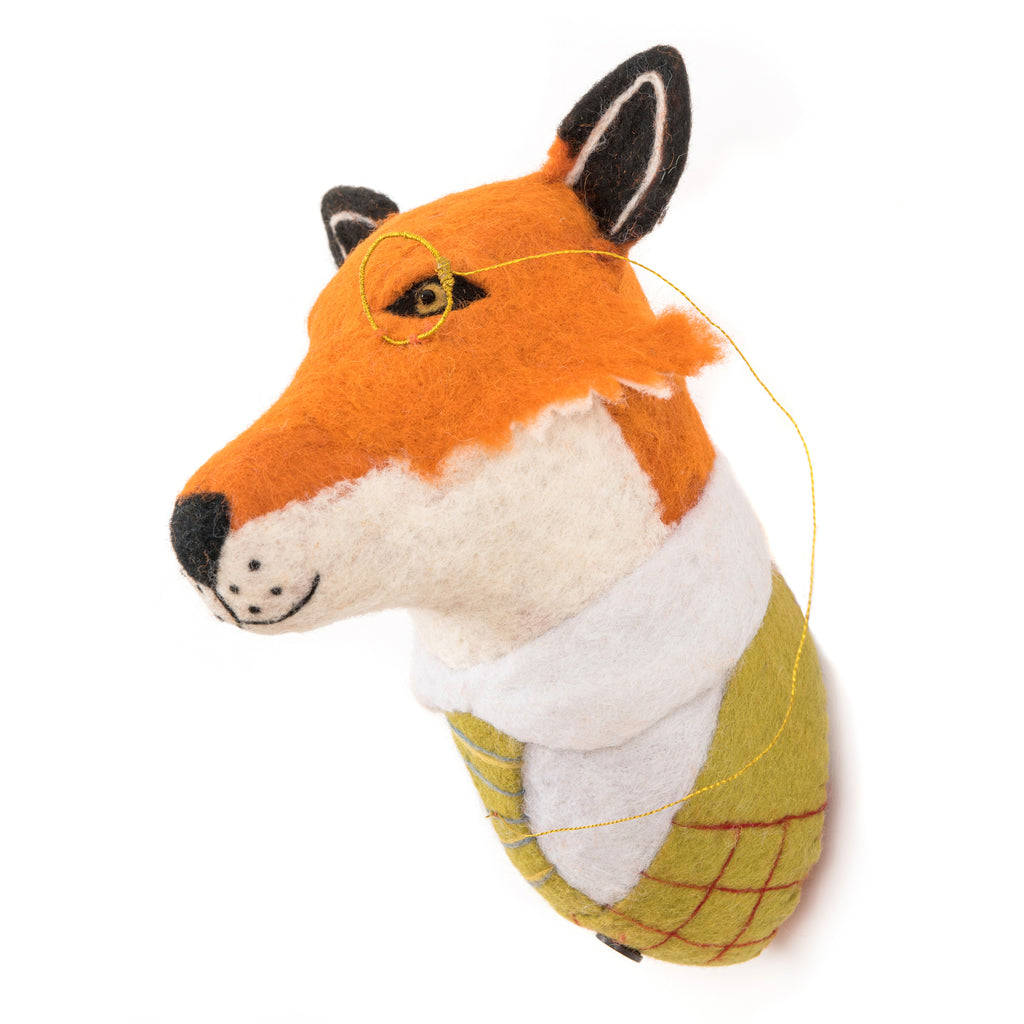 Fox Kids Wall Decor,  Supports Fair trade Artisans in Nepal