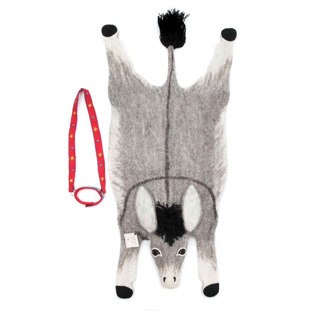 Donkey Kids Rug- Supports Fair trade Artisans in Nepal - Give Back Goods
