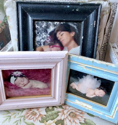 Upcycled & Reclaimed Wood Frames from Salvaged Moulding- Lots of colors!