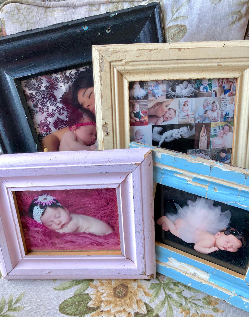 Upcycled & Reclaimed Wood Frames from Salvaged Moulding- Lots of colors! - Give Back Goods