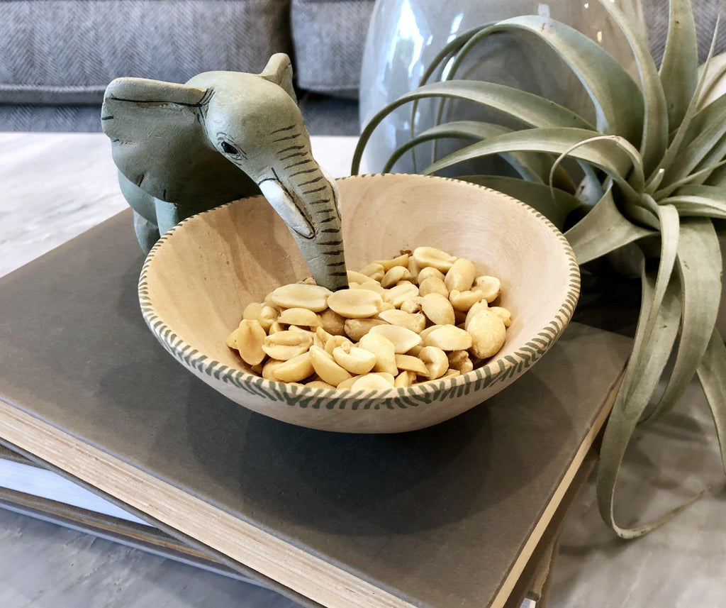 Drinking Elephant Bowl- Fair Trade - 10% goes to help animal conservation in Africa!