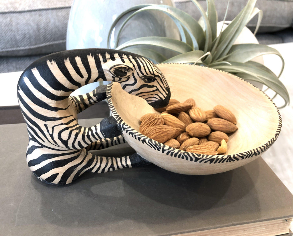 Drinking Zebra Bowl- Fair Trade - 10% goes to help animal conservation in Africa! - Give Back Goods