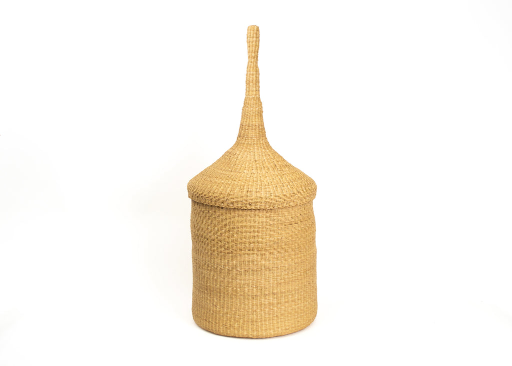Hand Woven Atelier Grass Decorative Basket, Hamper, Fair Trade from Ghana