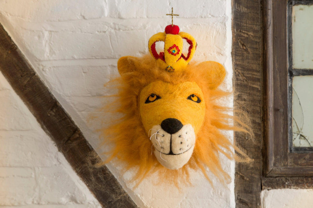 Lion Kids Wall Decoration- Supports Fair trade Artisans in Nepal - Give Back Goods
