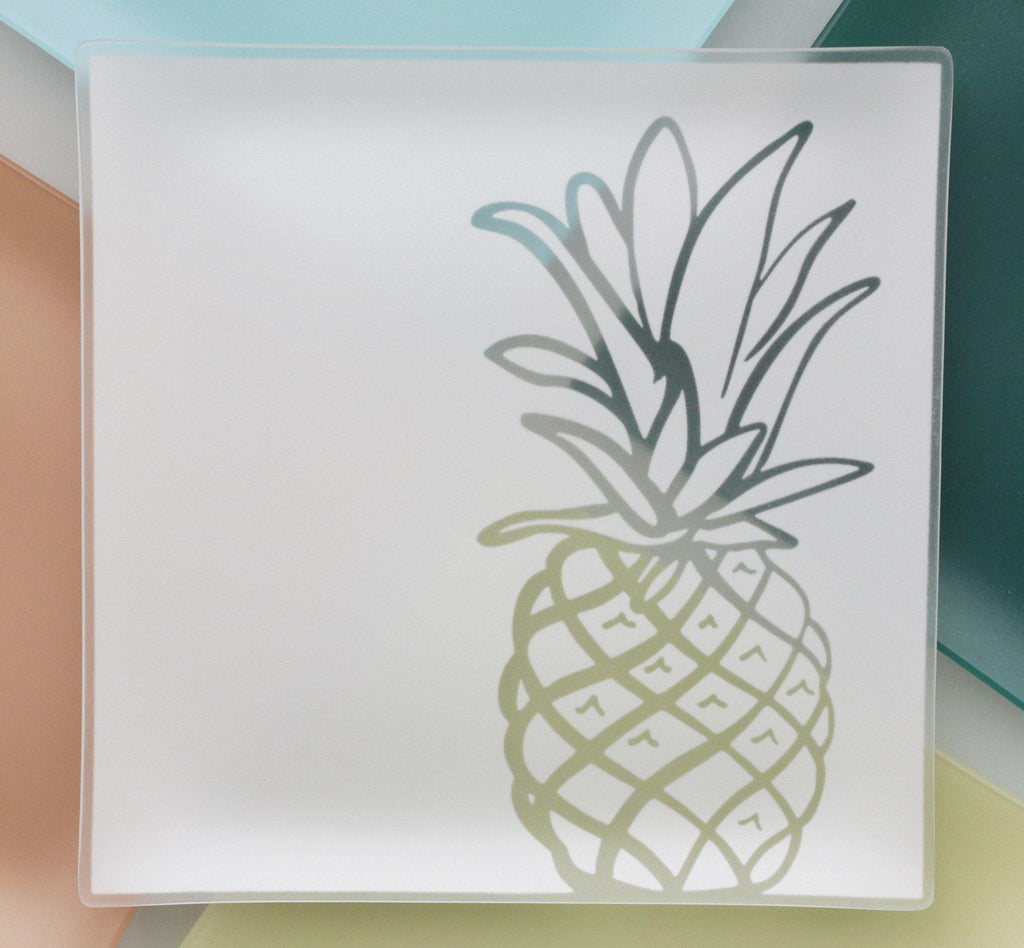 "Family House 13"" Pineapple Plates with Purpose™- 15% is donated to Family House - Give Back Goods"
