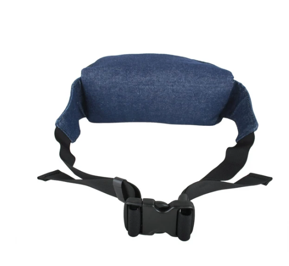 Upcycled Denim & Tire Hip /Fanny  Pack- Eco-friendly- USA Made - Saves Landfill Space!