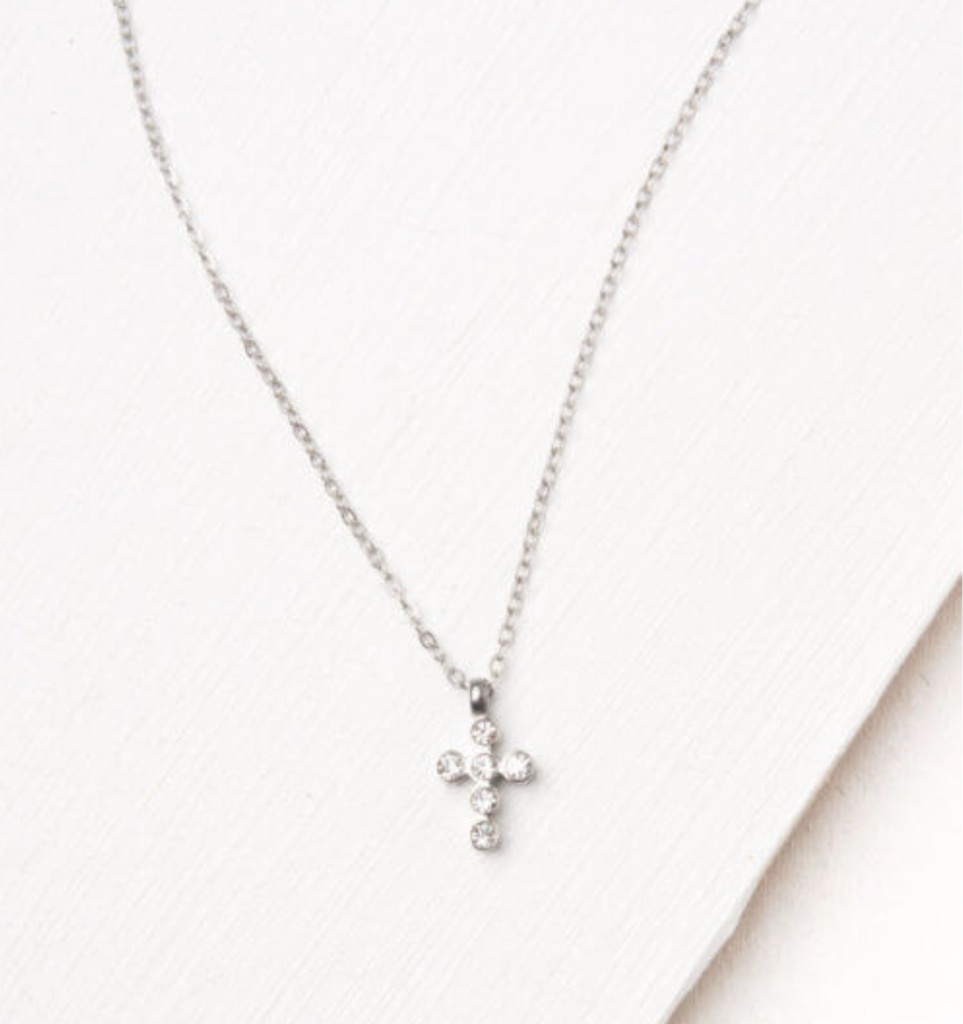Silver Cross Pendant Necklace, Give freedom & careers to exploited women!