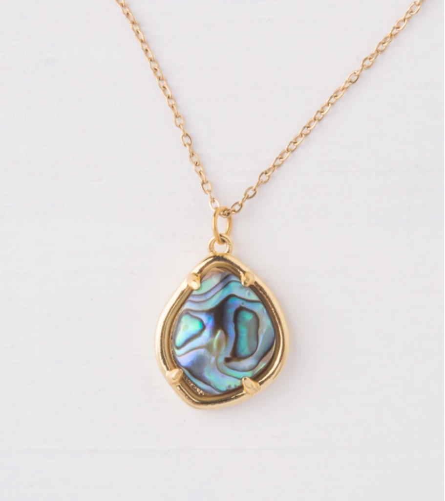 Gold Abalone Shell Necklace- Give Freedom To Girls & Women
